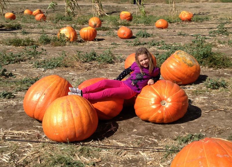 laying on pumpkin