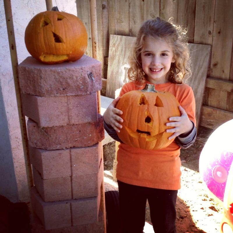 sophie and pumpkins