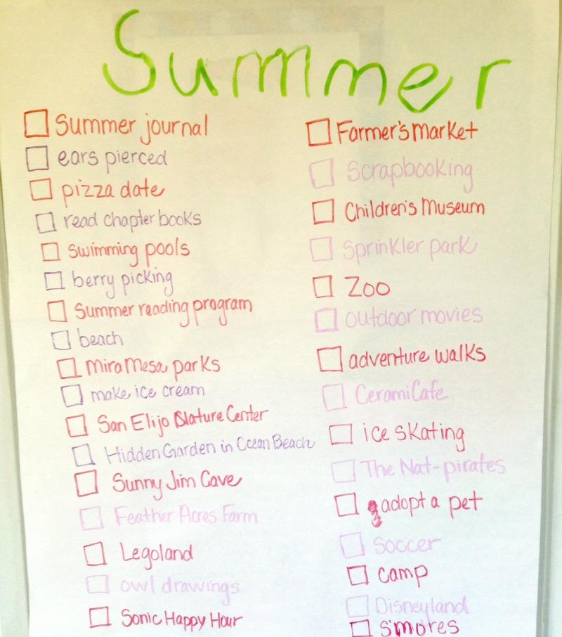 summer 2014 list