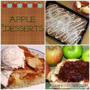 apple desserts collage