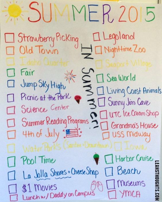 summer list 2015