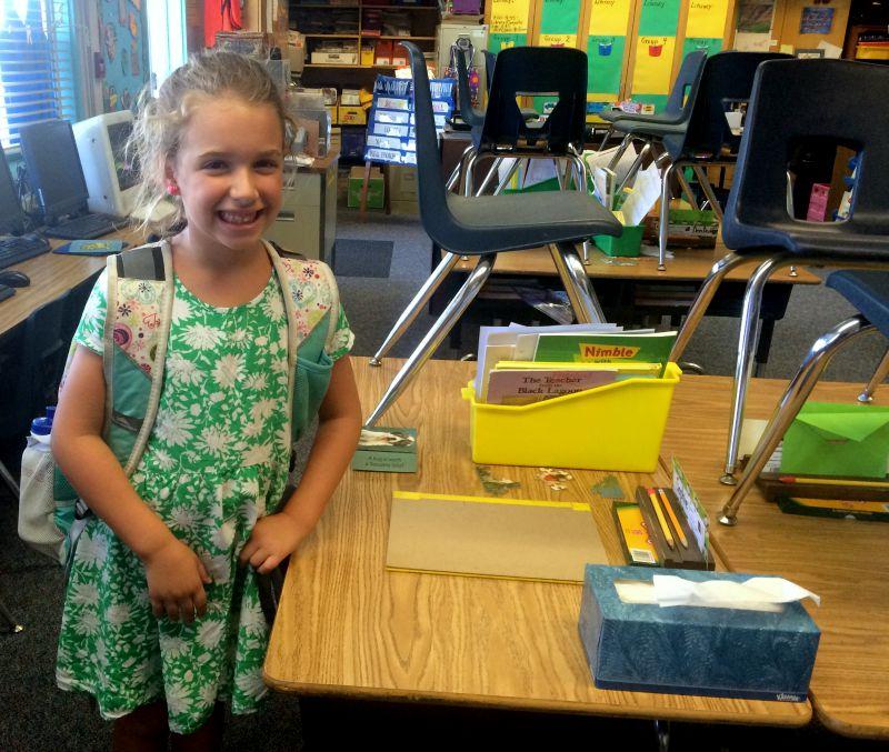1st grade desk