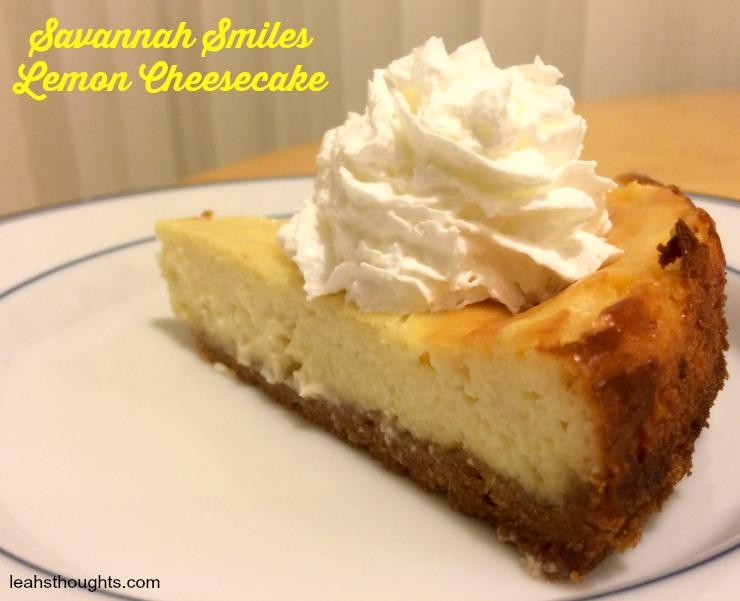 Savannah Smiles Lemon Cheesecake